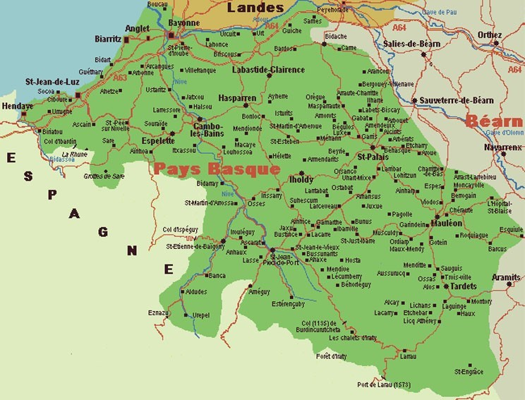carte du pays basque français Cartes et plans